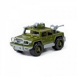 """Автомобиль-пикап военный """"Разведчик"""" с 2-мя пулеметами 24,8*12,4*12 см."""