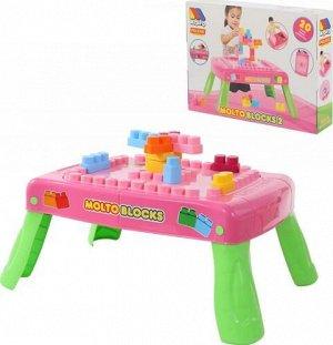 Набор игровой с конструктором (20 эл.),с элементами вращения, розовый , кор. 64*47*33см