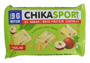 Chikalab Белый шоколад с фундуком и кукурузными чипсами 100 гр.