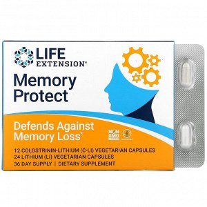 Life Extension, Memory protect, 36 вегетарианских капсул
