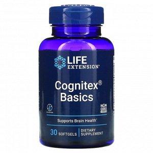 Life Extension, Cognitex Basics, 30 мягких желатиновых капсул