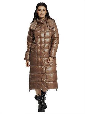 Пальто Состав: 56% ПЭ, 44% нейлон Сезон: Осень, Зима Цвет: Темно-бежевый  С подкладом: С подкладом (состав- ПЭ 100%) Утеплитель: Утеплитель- Синтепух (270 гр/м) Длина: Длина- 118 см.  Модное теплое зи