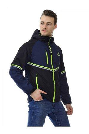 Мужская куртка Evil Wolf 9909 (FLEECE) Темно-синий