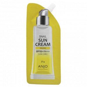ANJO  Professional Snail Sun Cream,SPF 50+, PA+++, 27g, Крем солнцезащитный с экстрактом муцина улит