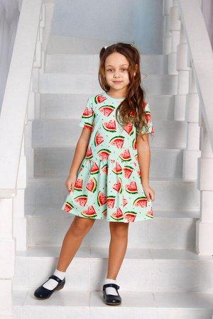 """Платье """"Арбузик"""" Кор.Рукав"""