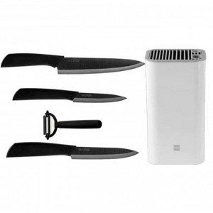 Комплект керамических кухонных ножей + подставка
