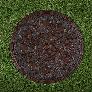 Мобильная садовая плитка-коврик, d = 30 см, резина, «Узор»