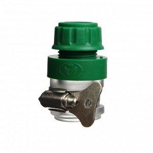 "Коннектор с креплением на кран, 1/2"" (12 мм) — 1/2"" (12 мм), с хомутом, пластик, резина"