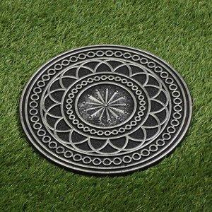 Мобильная садовая плитка-коврик, d = 30 см, резина, «Орнамент»