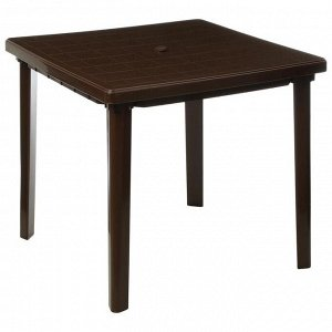 Стол квадратный, 800 х 800 х 740 мм, цвет коричневый