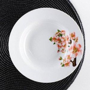 Тарелка глубокая «Яблоневый цвет», 250 мл, d=20 см, ф. Идиллия