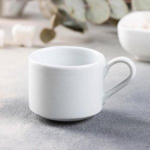 Чашка кофейная Башкирский фарфор Практик «Бельё», 90 мл, штабелируемая
