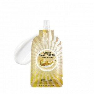 Beausta Golden Snail Сream Регенерирующий крем для кожи лица с муцином улитки в удобной тревел-упаковке 15 мл