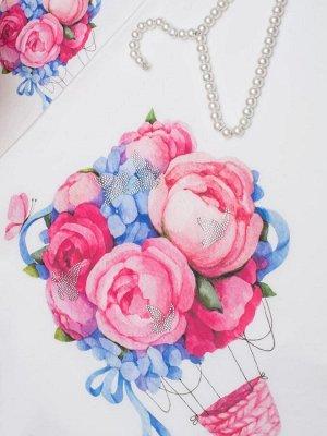 Комплект постельного белья из тенселя Полет цветов