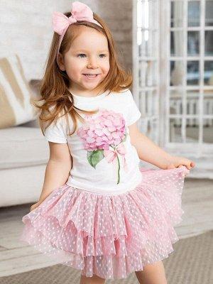 Розовая юбочка в горошек
