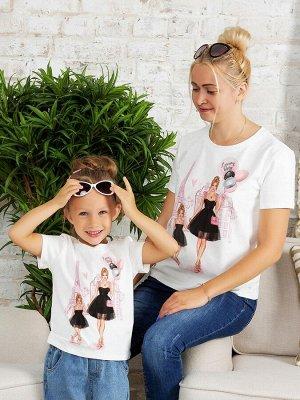 """Футболка с принтом """"Париж"""" блондинка (Family look)"""