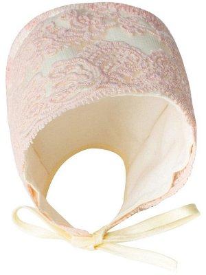 """Конверт-одеяло на выписку """"Милан"""" (молочный с розовым кружевом)"""