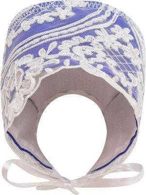 """Конверт-одеяло на выписку """"Роскошный"""" (синий с белым кружевом)"""
