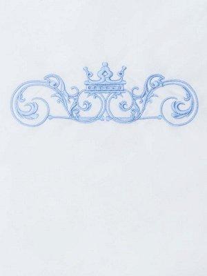 """Конверт-одеяло на выписку """"Роскошный"""" (голубой с белым кружевом)"""