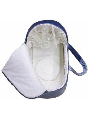 """Люлька-переноска для новорожденного """"Блюмарин"""" голубая"""