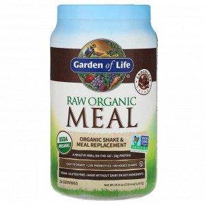 Garden of Life, сырая органическая закуска, органический заменитель коктейлей и пищи, какао с шоколадом, 1017 г (4 унции, 2 фунта)