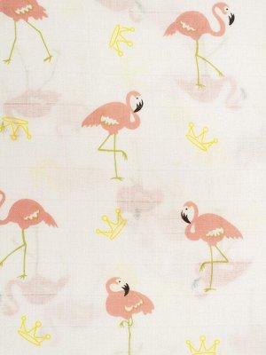 "Муслиновая пеленка ""Розовый фламинго"""
