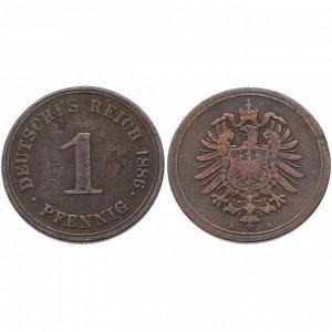 ГЕРМАНИЯ 1 пфенниг 1886 (A)