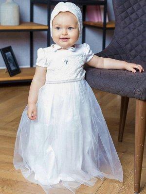 """Крестильное платье """"Восхищение"""" с чепчиком"""