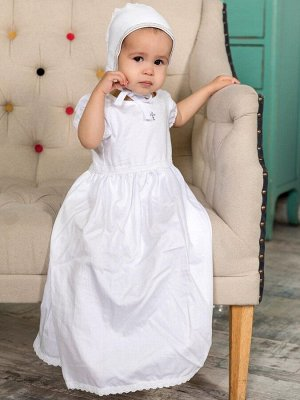 """Крестильное платье """"Кристина"""" с чепчиком"""