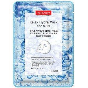 Purederm Relax Hydra Mask for Men Увлажняющая тканевая маска для мужчин, 18 мл