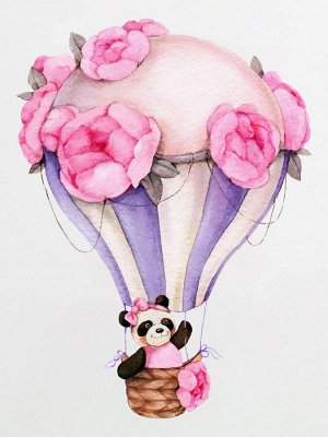 """Шапочка с принтом """"Панда на воздушном шаре"""""""