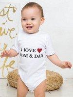 "Боди с коротким рукавом ""I Love Mom and Dad"""