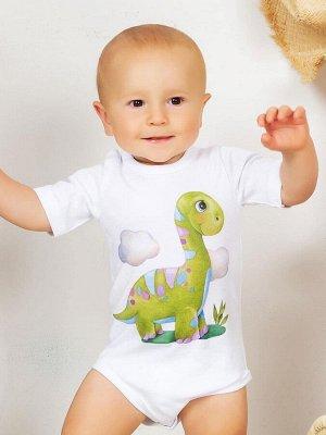 """Боди с коротким рукавом """"Динозаврик"""""""