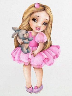 """Лонгслив """"Принцесса с зайкой"""""""
