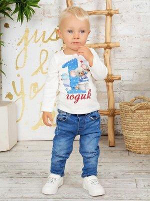"""Лонгслив """"Мне 1 годик"""" для мальчика малыша"""