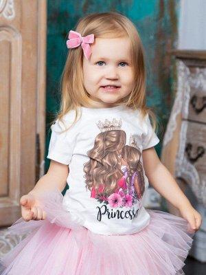 """Футболка детская с принтом """"Princesses"""" блондинки (Family look)"""