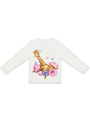 """Лонгслив """"Жираф в цветах"""""""