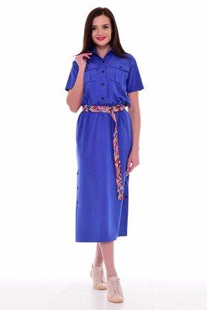 *Платье женское Ф-1-65 (индиго)