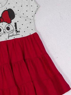 Платье ДЕВ Страна: Турция Производитель: DMB Материал: 100% хлопок Пол: ДЕВ Описание товара: Платье для девочки