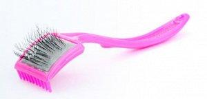 Пуходерка пластмассовая малая с граблями и каплями 80*60*50мм