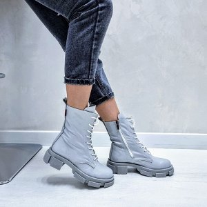 Ботинки  SPRING серый (рептилия)