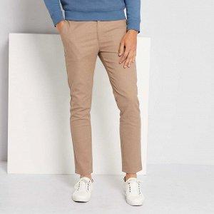 Узкие брюки-чинос - серый бежевый