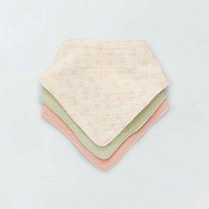 Комплект из 3 треугольных слюнявчиков Eco-conception - белый