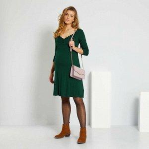 Короткое платье для беременных - зеленый