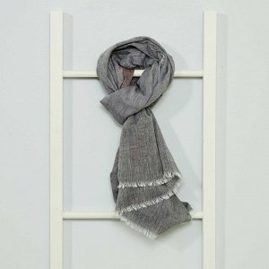 Платок с бахромой - темно-серый