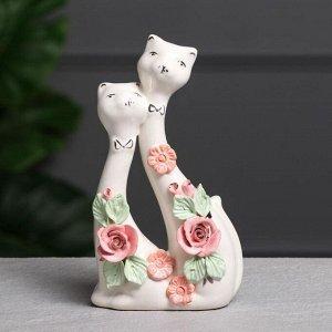 """Статуэтка """"Свадебные коты"""". цветная лепка. 18 см. микс"""
