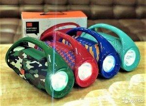 Колонка Bluetooth TG-136 mini с фонариком влагостойкая