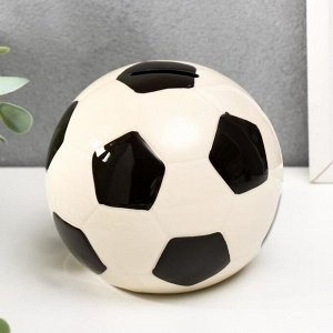 "Копилка керамика ""Футбольный мяч"" 10,5х11х11 см"