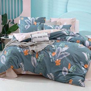 Комплект постельного белья Делюкс Сатин L378 Евро 4 наволочки