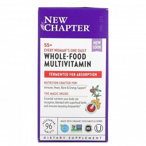New Chapter, Витамины для женщин в возрасте от 55 лет 55+ Every Woman's One Daily Multi, 96 вегетарианских таблеток